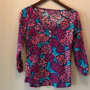 Lilly Pulitzer Long Sleeve Top Size Small
